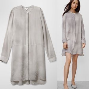 Aritzia Wilfred Silk Bossut Dress in Ashen